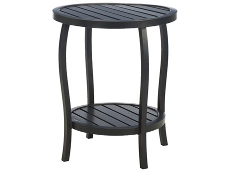 Summer Classics Cottage Aluminum 22''Wide Round End Table