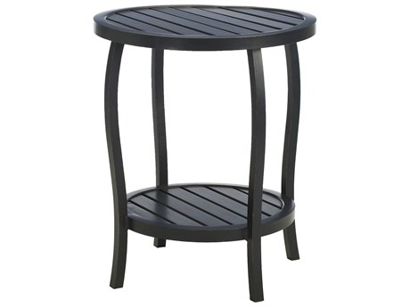 Summer Classics Cottage Aluminum Ancient Earth 22'' Wide Round End Table