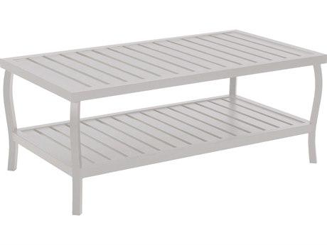 Summer Classics Cottage Aluminum French Linen 40''W x 22''D Rectangular Coffee Table SUM401120