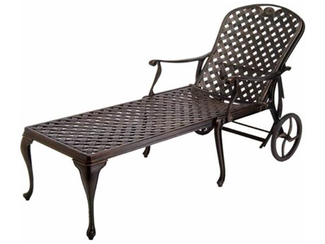 Mallin Seville Cushion Cast Aluminum Adjustable Chaise