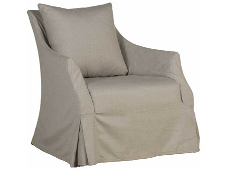 Summer Classics Baldwin Cast Dove Swivel Lounge Chair with Cushion