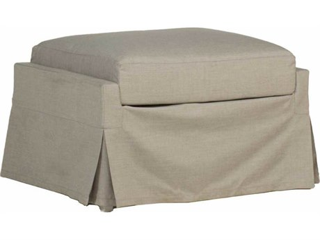 Summer Classics Helena Cast Dove Ottoman with Cushion