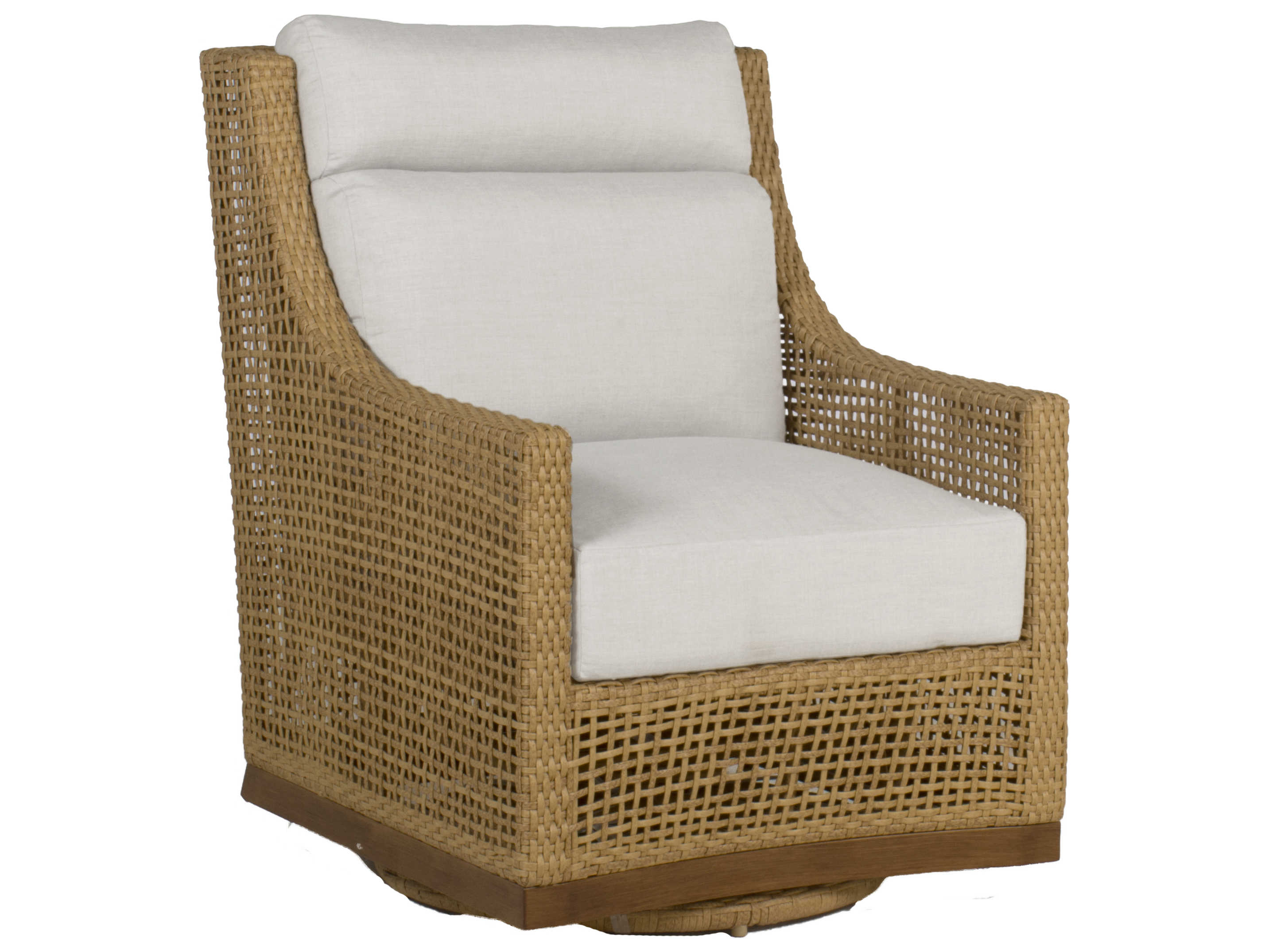 Miraculous Summer Classics Peninsula Wicker Raffia Sandalwood Swivel Lounge Chair With Cushion Gmtry Best Dining Table And Chair Ideas Images Gmtryco