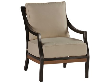 Summer Classics Belize Aluminum Mahogany Lounge Chair with Cushion