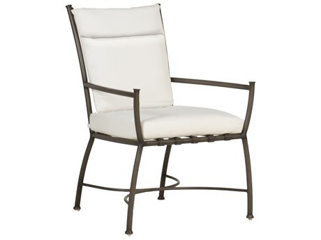 Summer Classics Majorca Aluminum Slate Grey Dining Arm Chair with Cushion