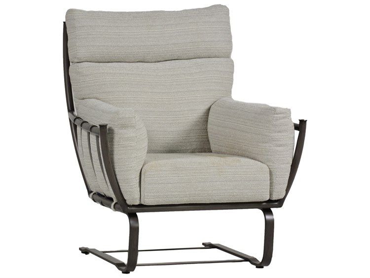 Summer Classics Majorca Aluminum Slate Grey Spring Lounge Chair with Cushion PatioLiving