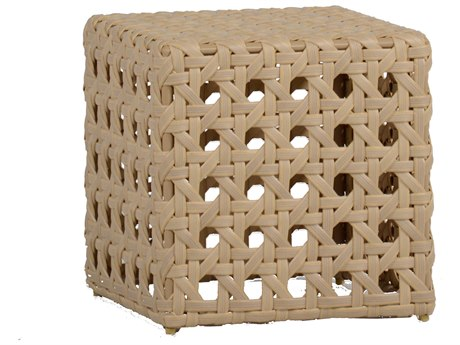Summer Classics Rio Wicker Nathan Burlap 19'' Wide Square End Table