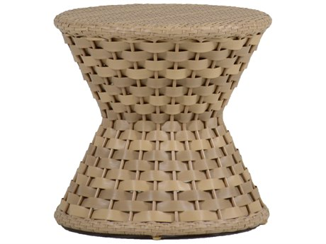 Summer Classics Joanna Wicker Nathan Burlap 21'' Wide Round End Table