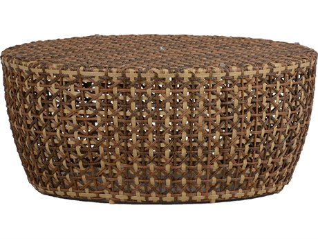 Summer Classics Largo Wicker Ago Resin 40'' Wide Round Coffee Table PatioLiving