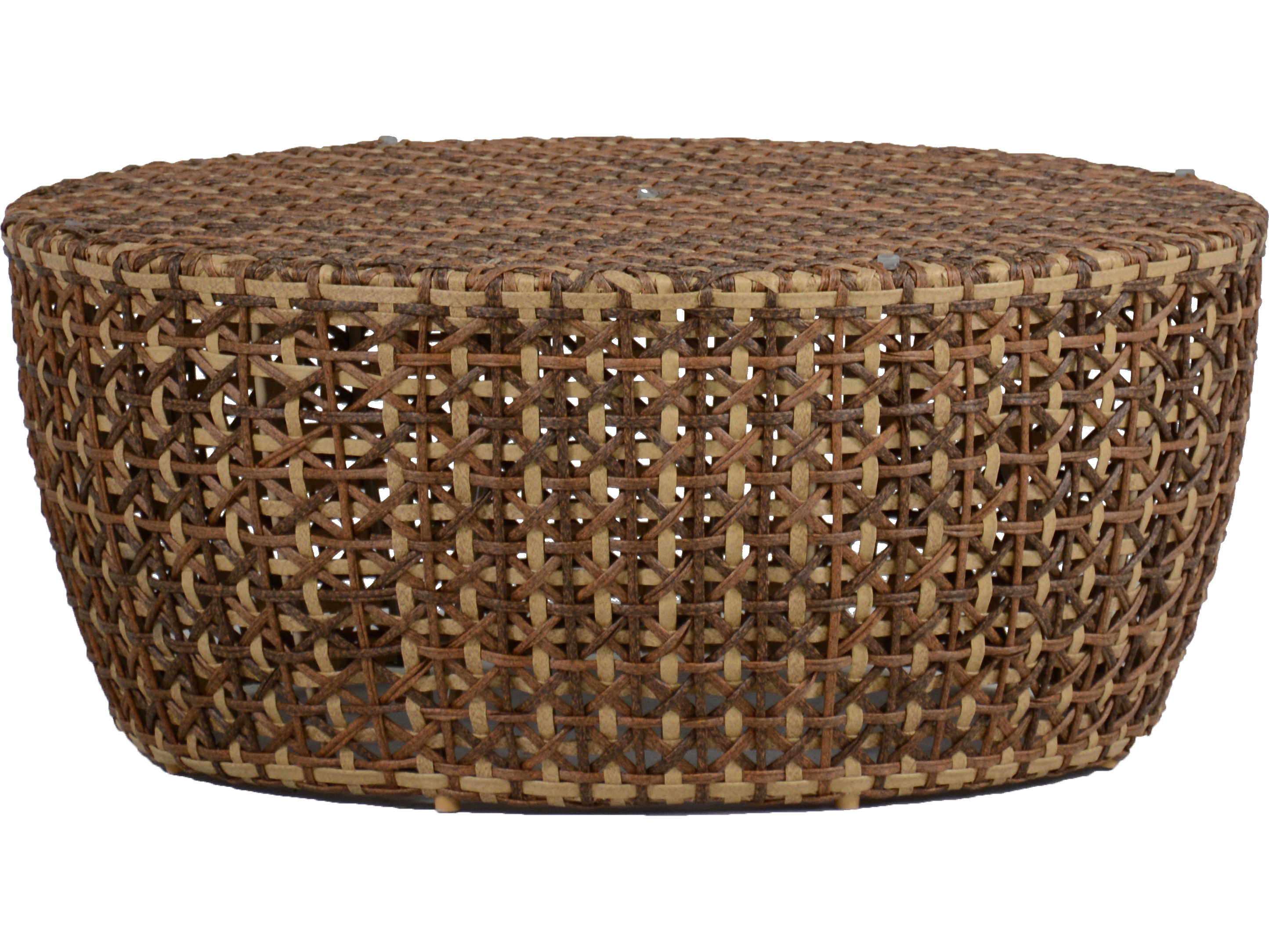 Summer Classics Largo Wicker Ago Resin 40 Wide Round Coffee Table 431134