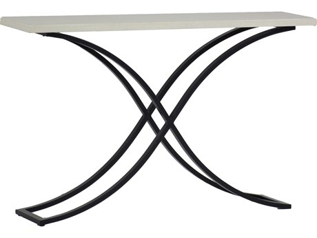 Summer Classics Marco Stone Aluminum Travertine & Ebony 52''W x 13''D Rectangular Console Table