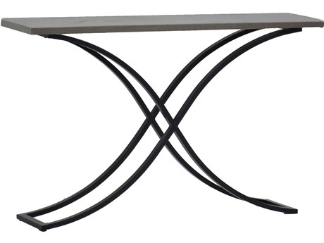 Summer Classics Marco Stone Aluminum Slate Grey & Ebony 52''W x 13''D Rectangular Console Table