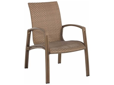 Summer Classics Luna Wicker Dining Arm Chair