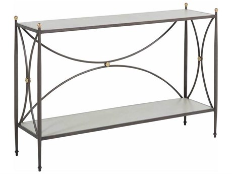 Summer Classics Roma Aluminum 52.75''W x 14.75''D Rectangular Superstone Top Console Table