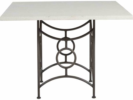 Summer Classics Trestle Wrought Iron Square Dining Table Base