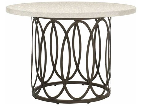 Summer Classics Ella Aluminum Slate Grey 42'' Wide Round Dining Table