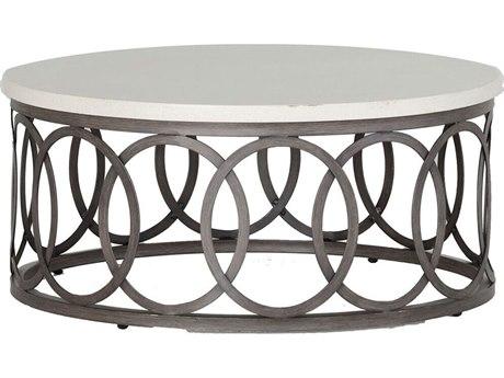 Ella Aluminum 36'' Wide Round Coffee Table