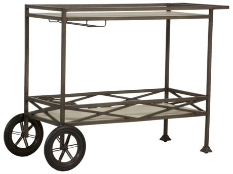 Summer Classics Italia Slate Grey Aluminum Bar Cart