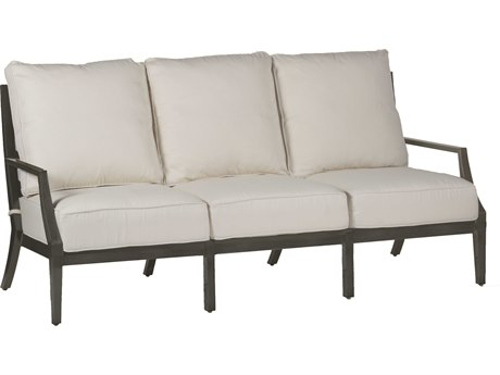 Summer Classics Lattice Slate Gray Cast Aluminum Sofa