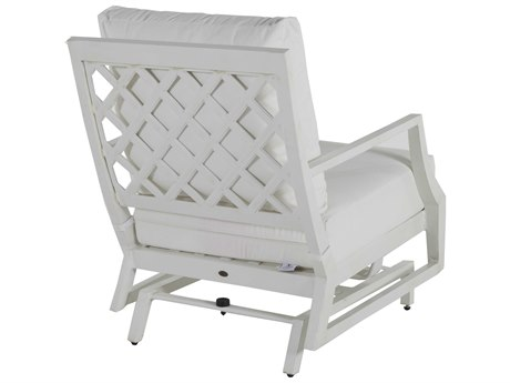Summer Classics Lattice Aluminum French Linen Spring Lounge Chair With  Cushion