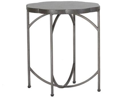 Summer Classics Gillian Black Walnut & Charcoal 20'' Wide Round End Table
