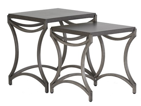 Summer Classics Caroline Wrought Iron 20''W x 18''D Rectangular Nesting Tables