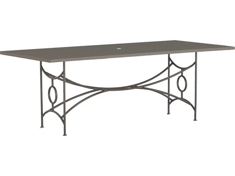 Summer Classics Trestle Black Walnut & Slate Grey 84''W x 40''D Rectangular Dining Table