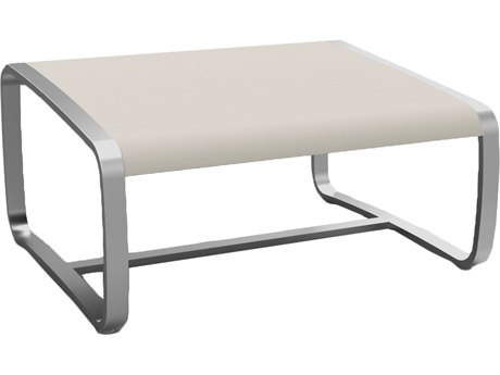 Summer Classics Delray Canvas & Stainless Steel Ottoman