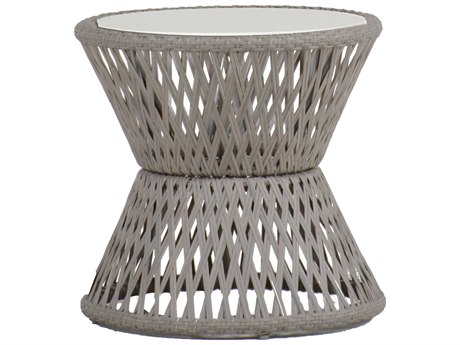 Summer Classics Echo Faux Stone Oyster 21'' Wide Round End Table