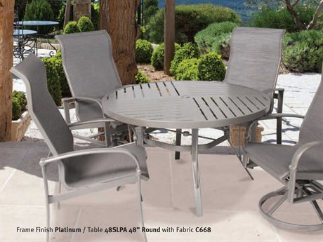 Suncoast Madison Sling Aluminum Dining Set