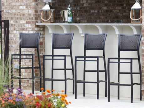 Summer Classics Aire Ancient Earth Wicker Bar Stool Set