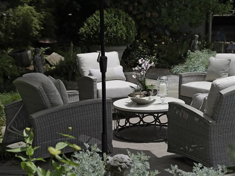 Summer Clics Astoria Oyster Wicker Lounge Set