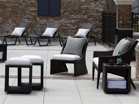 Summer Classics Athena Black Walnut Wicker Lounge Set