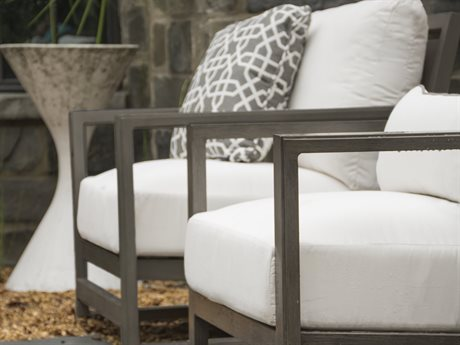 Summer Classics Avondale Aluminum Slate Gray Lounge Set PatioLiving
