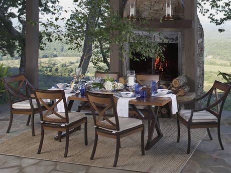 Summer Classics Belize Aluminum Mahogany Dining Set