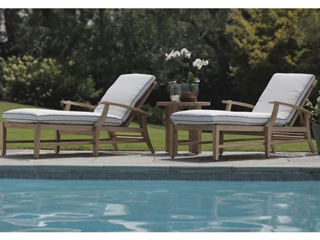 Summer Classics Croquet Teak Lounge Set
