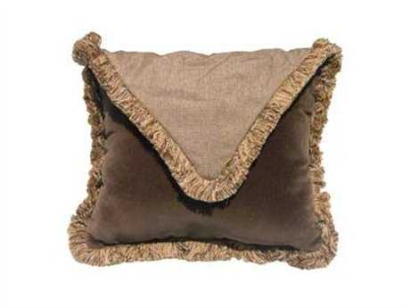 Suncoast Accent 16 Square Envelope Fringe Pillow