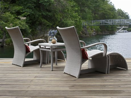 Summer Classics Halo Wicker Oyster Lounge Set