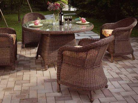 Suncoast Monaco Casual Cushion Wicker Dining Set