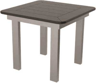 Suncoast Marine Grade Polymer Aluminum 23 Square Side Table
