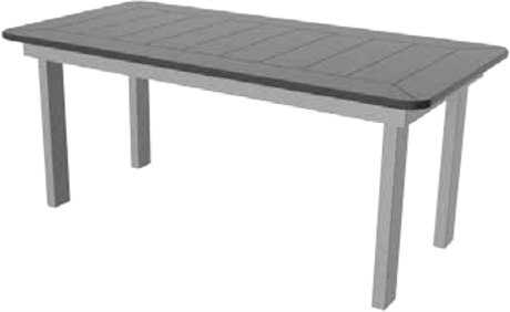 Suncoast Marine Grade Polymer Aluminum 40 x 23 Rectangular Coffee Table with Umbrella Hole