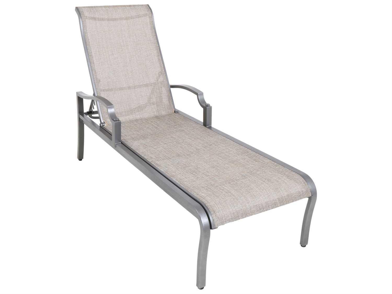 Sunvilla aragon sling cast aluminum chaise lounge in for Cast aluminum chaise lounge