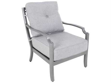 Sunvilla Aragon Cushion Cast Aluminum Lounge Chair in Frequency Ash