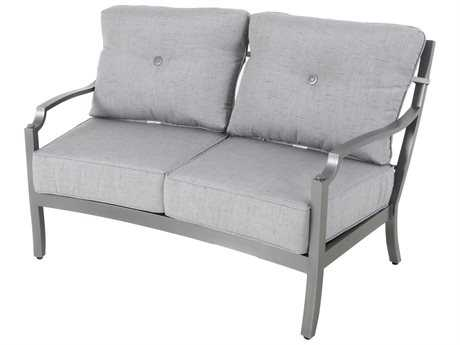 Sunvilla Aragon Cushion Cast Aluminum Loveseat in Frequency Ash