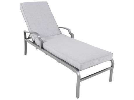 Sunvilla Aragon Cushion Cast Aluminum Chaise Lounge in Frequency Ash