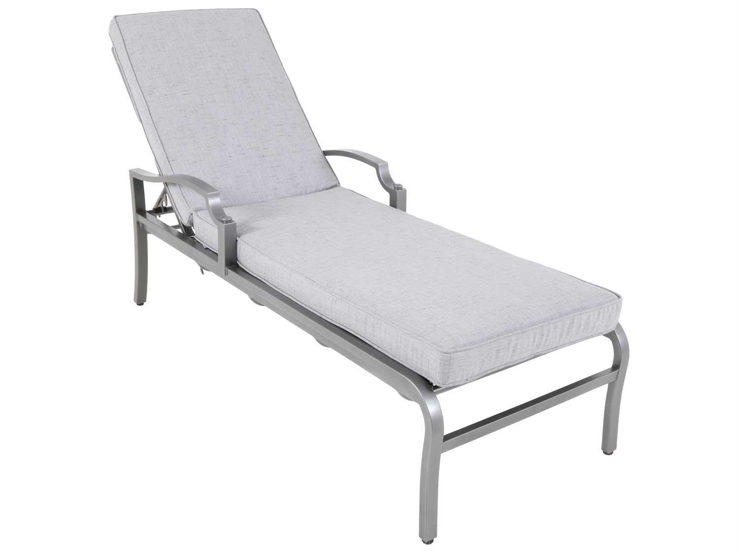 Sunvilla aragon cushion cast aluminum chaise lounge in for Cast aluminum chaise