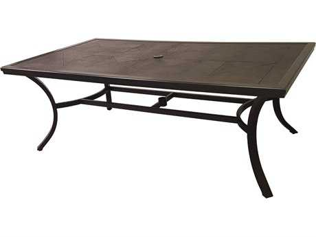 Sunvilla Fauxwood Aluminum 81.5 x 44 Rectangular Dining Table in Mahogany