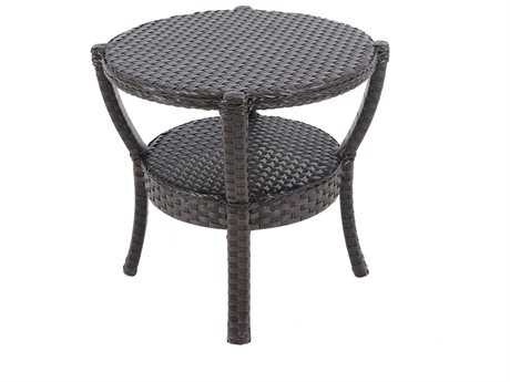 Sunvilla Elise Wicker 24.02 Round End Table