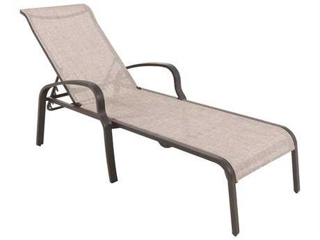Sunvilla Laurel Sling Aluminum Chaise Stackable in Hunter