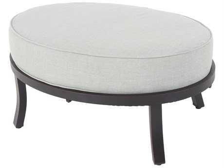 Sunvilla Aragon Cushion Aluminum Universal Ottoman in Cast Oasis